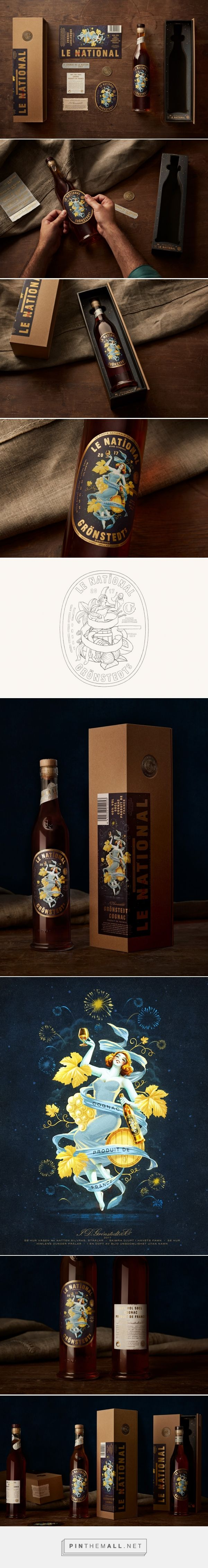 Grönstedts Le National '17 limited edition cognac packaging design by NINE Stockholm - http://www.packagingoftheworld.com/2018/02/gronstedts-le-national-17.html