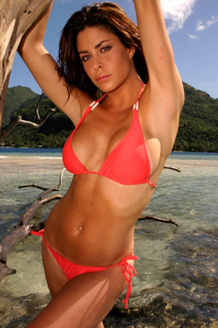 Bikini car race woman