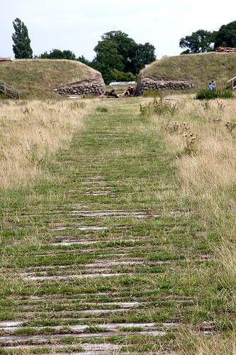The oak road inside the Trelleborg Viking Fortress