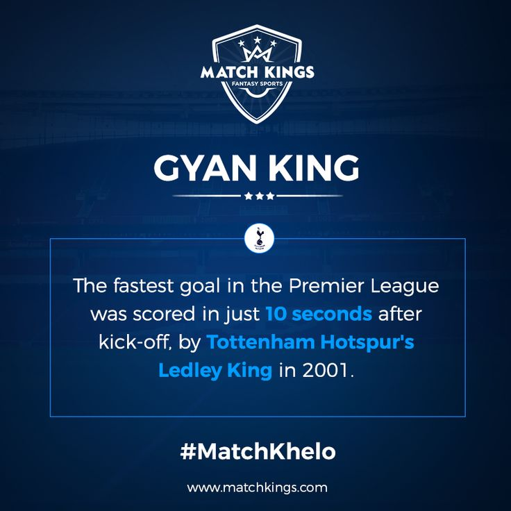 That was quick! Tottenham Hotspur legend Ledley King is the unlikely holder of this record! #MatchKhelo #THFC #pl #fpl #fantasysoccer #soccer #fantasyfootball #football #fantasysports #sports #fplindia #fantasyfootballindia #sportsgames #gamers  #stats  #fantasy #MatchKings