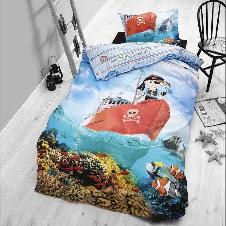 Dreamhouse Little Pirate Duvet Cover Set For Kids - Multicoloured - Single 3ft