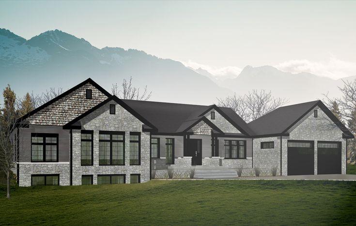 Vous recherchez une maison élégante et qui a de la classe?  Voici un modèle fait pour vous! Modèle Brompton