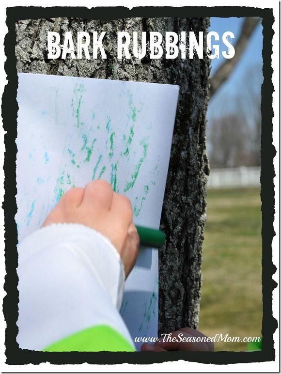 Arbor Day Activity: Bark Rubbings  www.TheSeasonedMom.com