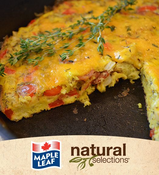 Pepperoni Frittata #NaturalSelections @MapleLeafFoods