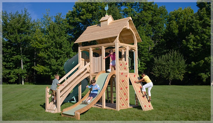 Cedarworks has the most beautiful swingsets.
