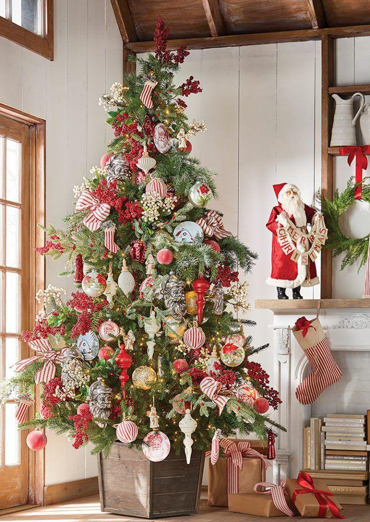2019 Raz Christmas Tree Inspiration Country Christmas Trees