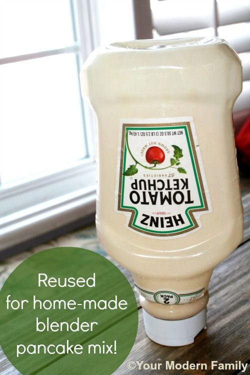 You used your ketchup bottle for WHAT  How to make heart pancakes from a ketchup bottle