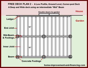12x12 deck plans bing images 12 x 12 deck pinterest for Deck plans and material list