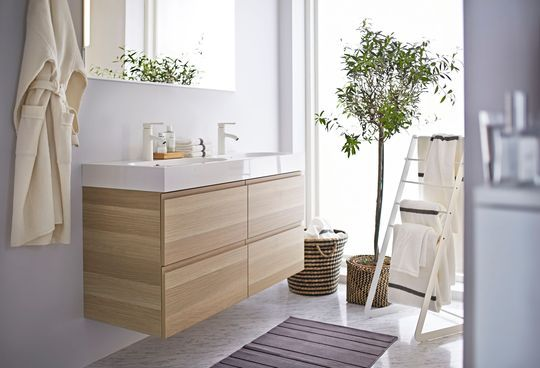Meuble de salle de bains suspendu pour une déco épurée - Ikea : le meilleur des nouveautés 2015 en 30 photos - CôtéMaison.fr