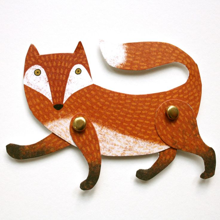 Alice Melvin — Cut Out and Make Fox Puppet Card: