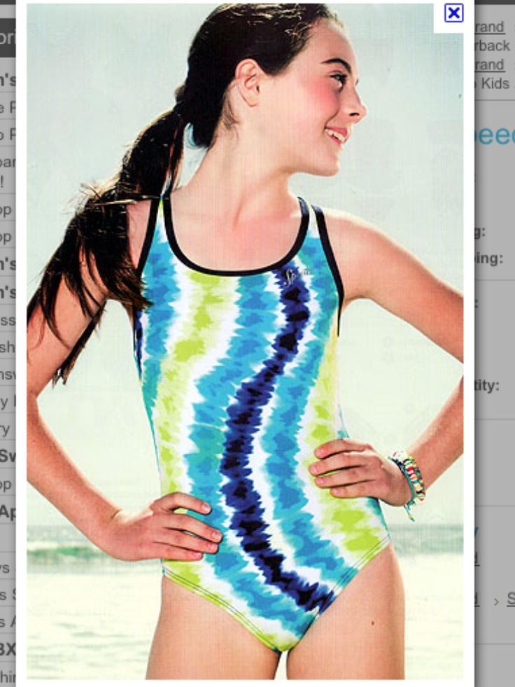 speedo swimwear swimsuit Tween Teen Kid Fashion Model Ava ...