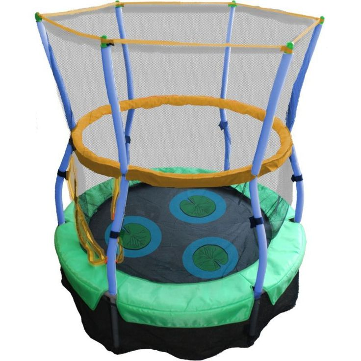 Inspirational Skywalker Trampolines Lilly Pad Adventure Bouncer Trampoline with Enclosure