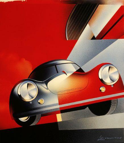 Porsche 356 Coupe giclee by Alain Levesque