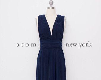 Navy Blue LONG Floor Length Ball Gown Maxi Infinity Dress Convertible Formal Multiway Wrap Dress Bridesmaid Dress Evening Dress Wedding