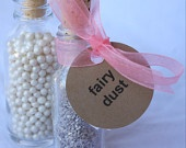 MiNi GLaSS FaVoR BoTTLeS--with Cork plugs--10ct--Pirate Parties--Fairy Dust-Wedding Favors--Treasure Maps-Scavenger Hunts--Bug Jars--. $10.75, via Etsy.
