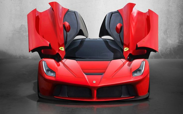 A drawing of the devil Ferrari