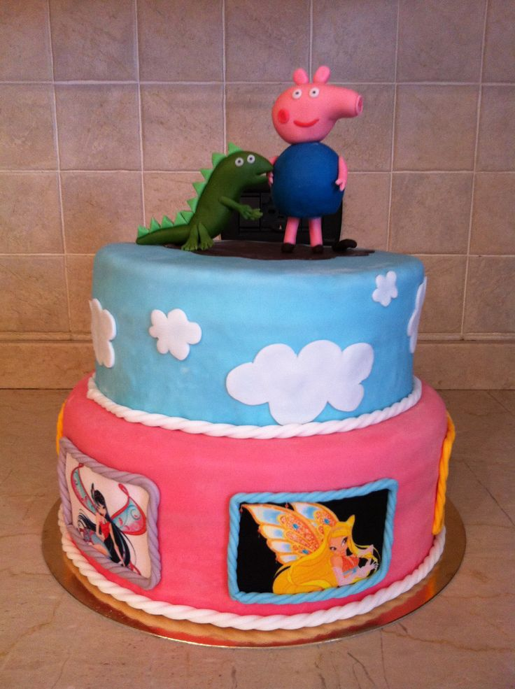 #torta #peppapig #georgepig #dinosauro #winx #cake #cakedesign #chiryscakes #compleanno #birthday #maschio #femmina #boy #girl