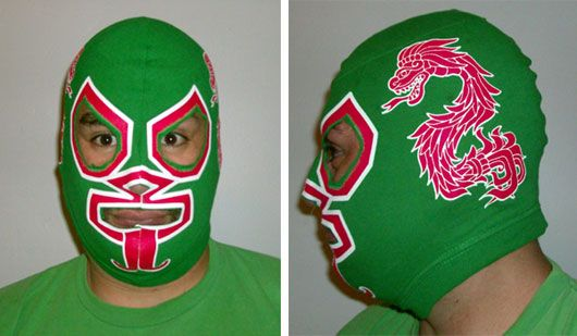 Make a lucha library mask out of an old tshirt!  http://vipercomics.com/2010/06/01/how-to-make-a-lucha-libre-mask/