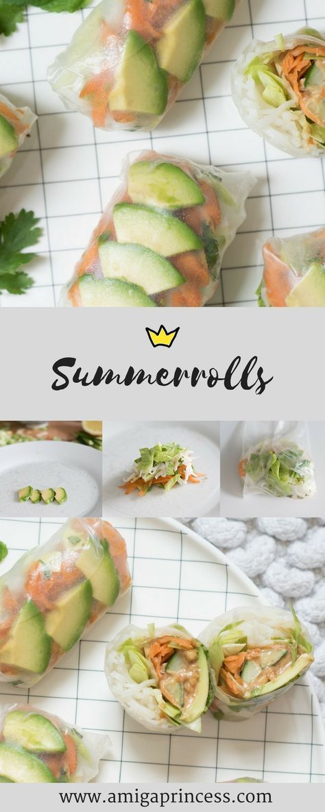 Homemade Summerolls mit Erdnuss-Sauce