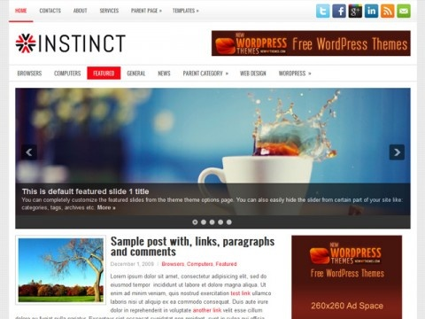 Instinct Free WordPress Theme