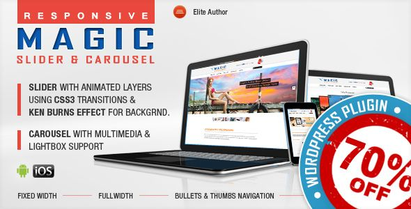 cool Magic Responsive Slider and Carousel WordPress Plugin