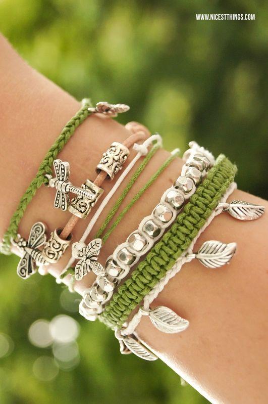 DIY Armbänder selber machen: flechten, aus Leder, mit Perlen