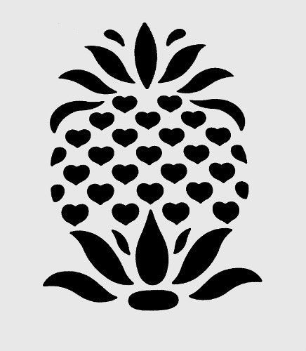 stencils pineapple stencil template fruit templates pattern painting tropical craft printable leaf patterns plant