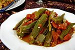 A great okra dish starts with choosing okra that is fresh and young. Test it by bending the tip back. If it snaps off, the okra is fresh. If it doesn't, don't buy it. This is a fast, easy way to cook okra that preserves the fresh taste by not over-cooking it. The okra is …