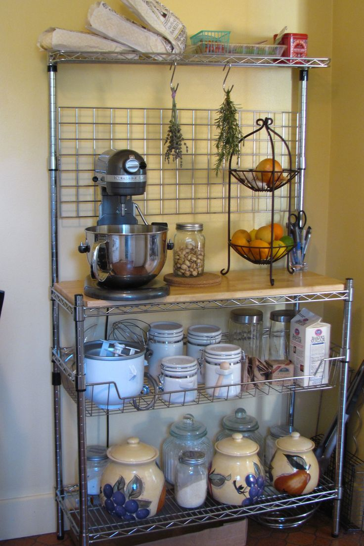 kitchen of spring shelving fresh cart bakersrack tier top rack wire discount club bakers microwave
