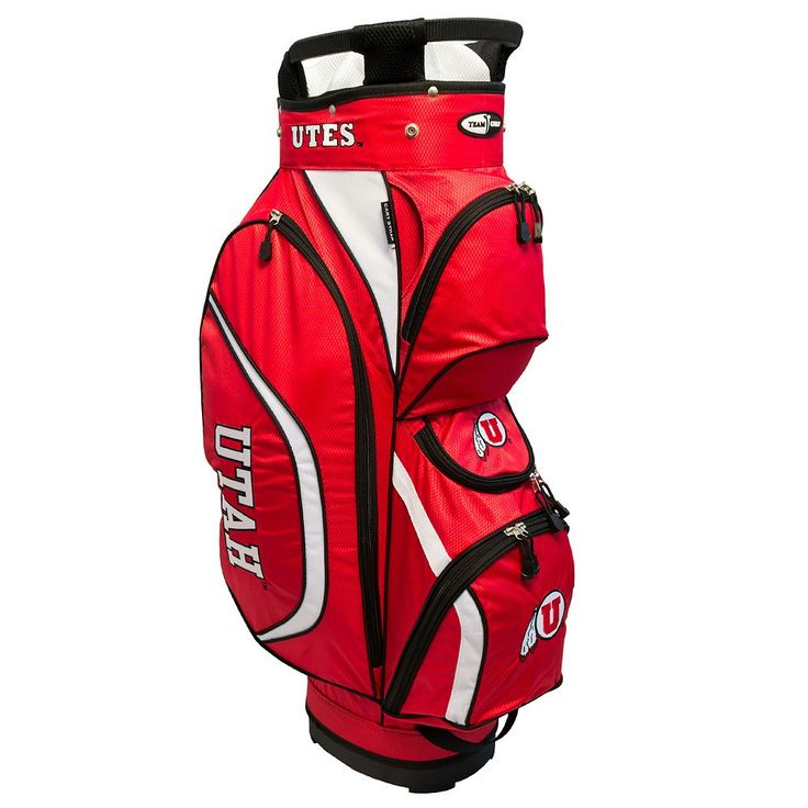 Team Golf Utah Utes Clubhouse Golf Cart Bag, Multicolor