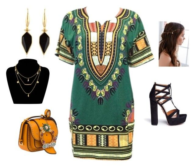 """Dashiki fashion 😁"" by elmiller95 on Polyvore featuring Miu Miu, Aquazzura, Isabel Marant and REGALROSE"