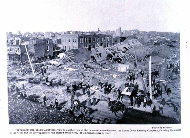 St. LOUIS, Missouri--EAST ST. LOUIS, Illinois, May 27, 1896, F4 tornado. The St. Louis area has had more than 100 known tornadoes in the last 140 years or so. The worst of these was a catastrophic F4 that hit the city in 1896: the third deadliest tornado in U.S. history, with 255 fatalities and 1,000 injuries. St. Louis has more tornado fatalities than any other city in the nation. (KevinR@Ky)