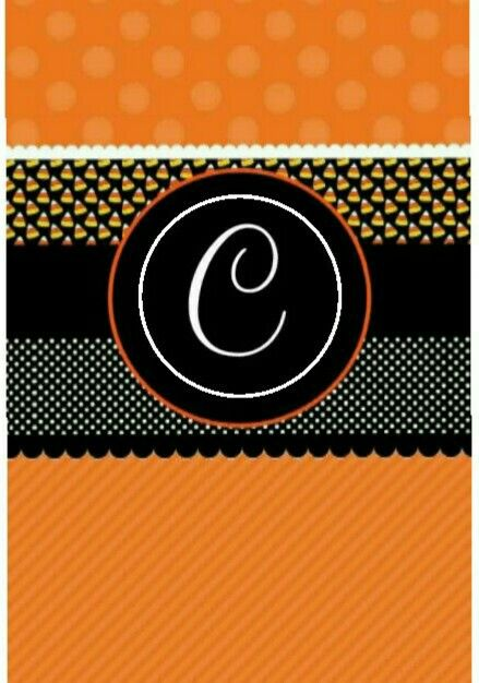 """C"" Monogram Wallpaper for Halloween"