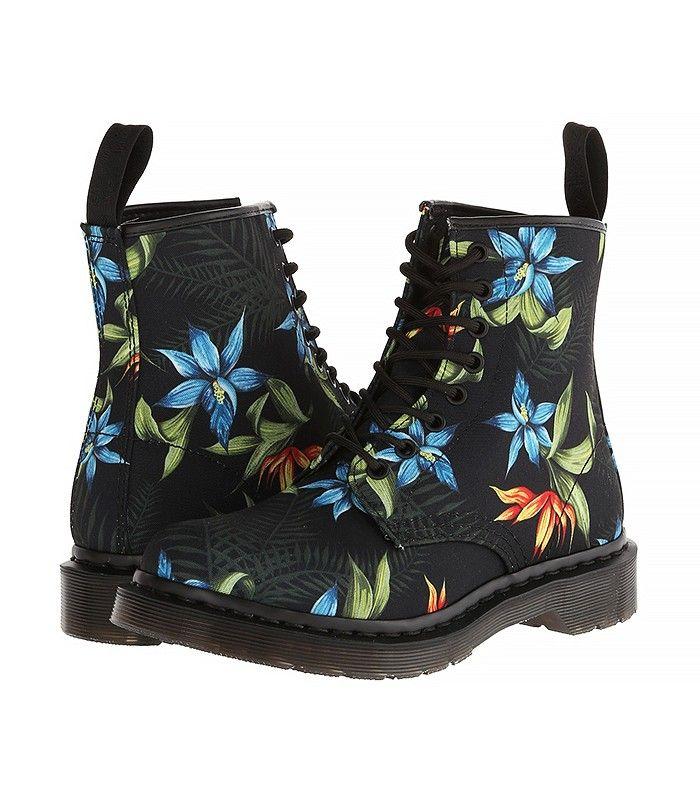 Dr. Martens Castel 8-Eye Boots in Floral Print