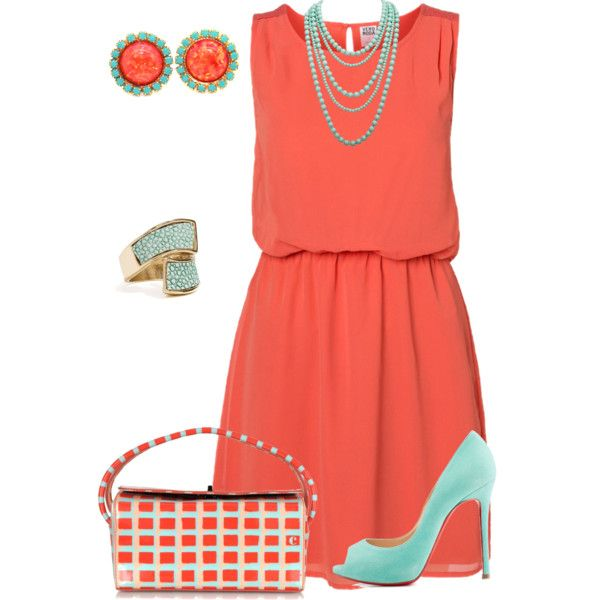 A fashion look from March 2015 featuring lace dress, peep toe pumps y multi colored handbags. Browse and shop related looks.