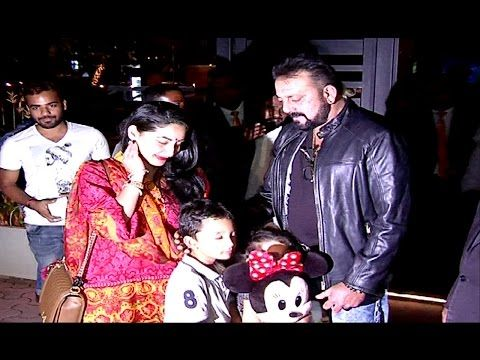 Sanjay Dutt spotted with family on a Dinner date, Mumbai.
