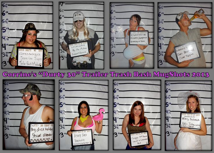 White Trash/Redneck Mugshot Party Favor/keepsakes  Hmmm... Maybe a last min party idea?