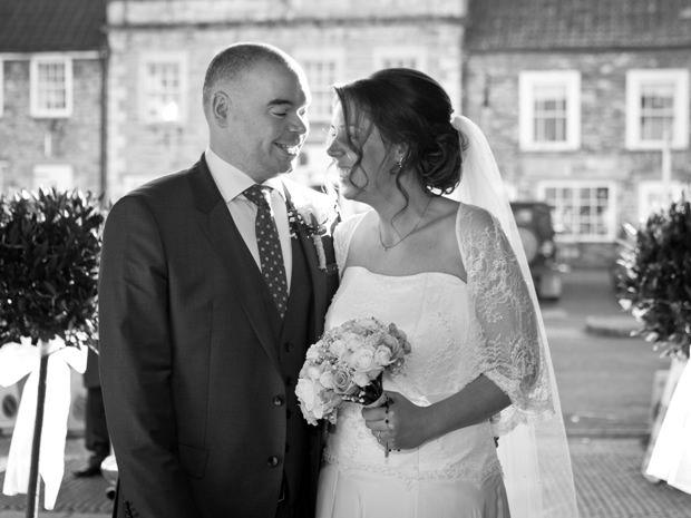 Emma Britt and Wade Touzalin celebrated their winter wedding reception at Tortworth Court Four Pillars Hotel. Image © Rebecca Faith Photography. #realwedding