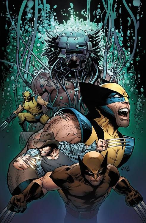 Death of Wolverine #4 variant cover by Greg Land *