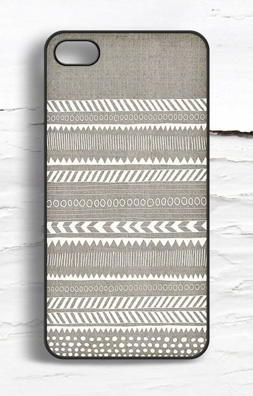 LOVE the tribal pattern. And the muted colors.   iPhone Linen Tribal Pattern Case