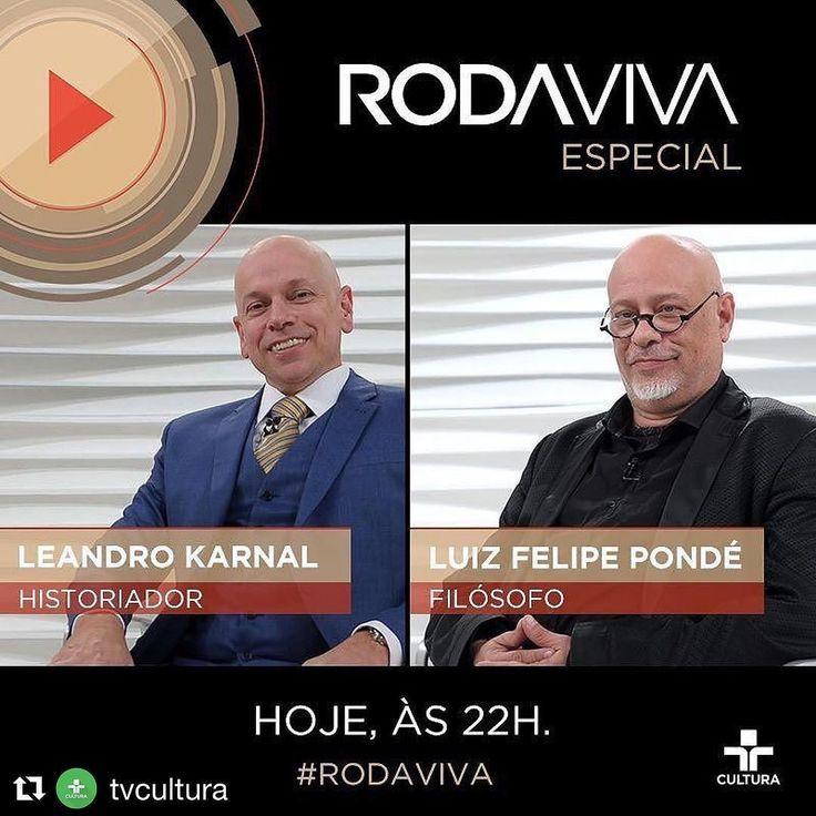 """#ficaadica #Repost @tvcultura  Hoje às 22h acontece o Roda Viva especial com @williancorreaoficial  #LeandroKarnal  @lf_ponde  @hugogloss @pecesiqueira  Taty Ferreira (@acidezfeminina) @cauemoura @nocedanielle & @paulocuenca discutindo os """"Dilemas Contemporâneos"""". Ao vivo na #TVCultura e no Facebook do programa #RodaViva."""