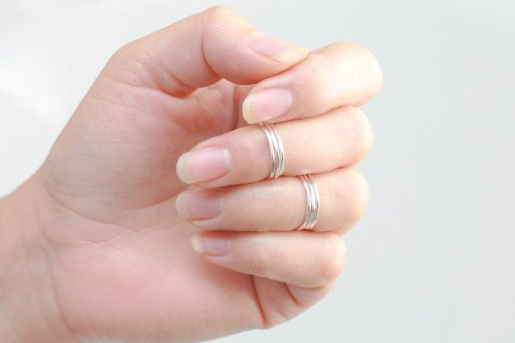 knuckle ring. GOLD, SILVER or ROSE gold. above knuckle thin stacking rings. first knuckle ring. mid ring. midi ring. gift for her under 25