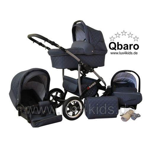 Lux4kids - Qbaro 3 en 1 Poussette combinée avec siège auto 02 vert Poussette Combinée Poussette Canne - pas cher Achat/Vente Poussettes modulables - RueDuCommerce