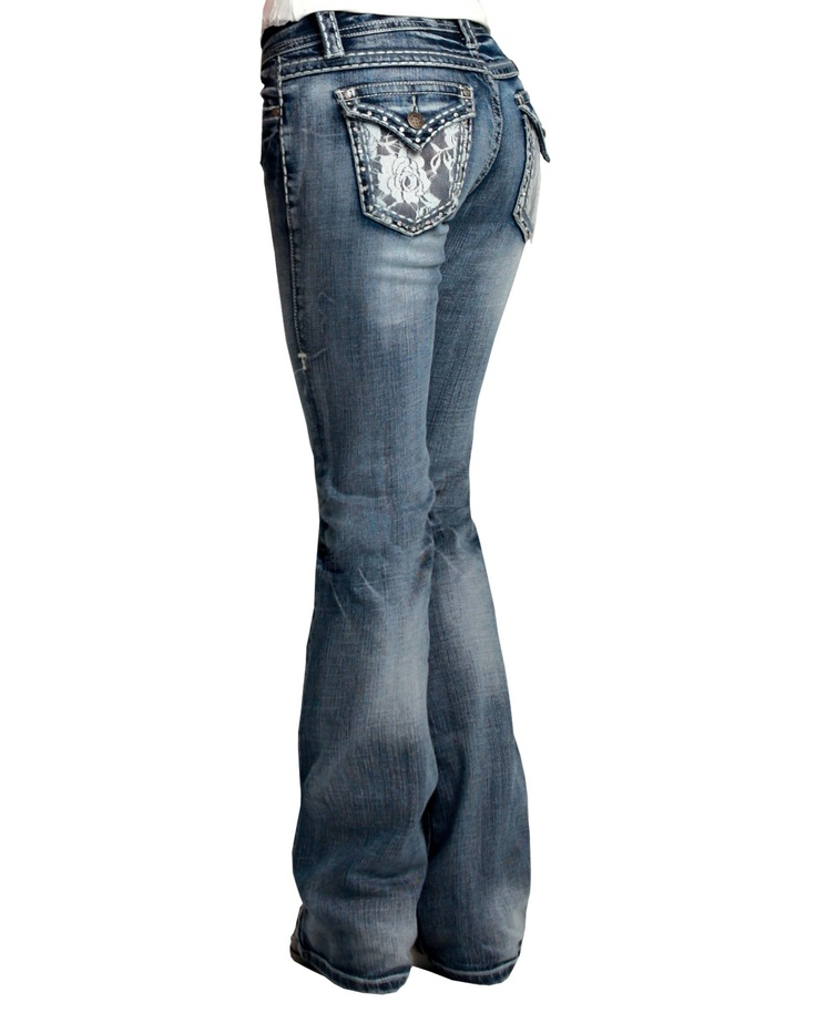 Women's Lacy Cream Cowgirl Tuff Jeans