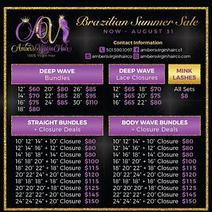 Premade Pricing Flyer – Customized For You – Hair Extensions Hair Bundles Hair Brand Bundle Deals Hair Extension Wigs Hair Stylist Bundle Up