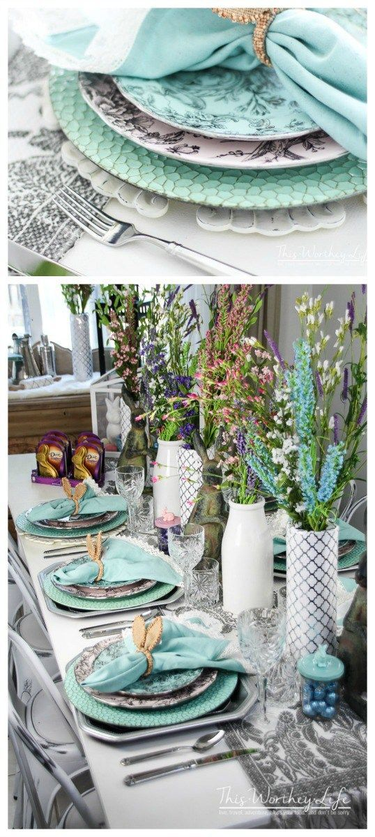 Elegant Easter Tablescape Spring Party Idea The O Jays