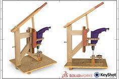 Wooden Drill Press using Hand Drill - STEP / IGES - 3D CAD model - GrabCAD