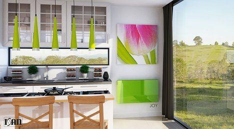 Skleněný radiátor Joy přinese svěží porci designu do vašeho interiéru. Radiátory se vyznačují vysokou mírou bezpečnosti – teplota krytu nepřekročí 43 °C. Všechny skleněné části jsou vyrobeny z bezpečnostního kaleného skla. Cena dle rozměrů od 13 800 Kč; Isan