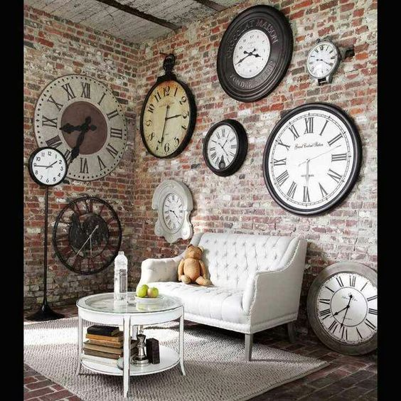 Large Wall Design Ideas rustic wall clock large wall clock weathered wood clock home decor reclaimed Take A Look At Our Impressive Collection Of Large Wall Clocks Decor Ideas That You Will