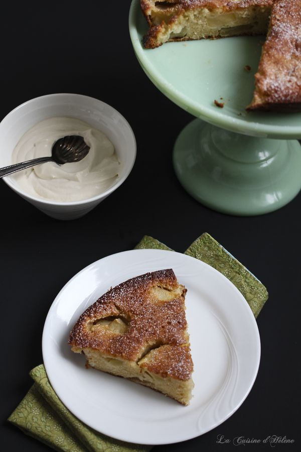 Apple Cake with Baileys Whipped Cream - La Cuisine d'Helene
